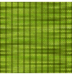 Style Seamless Knitted Melange Pattern Green Color vector image