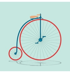 Vintage bicycle background 2 vector image vector image