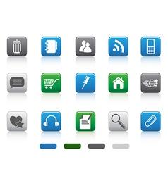 web icon -color square series vector image