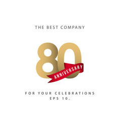 80 year anniversary celebration template design vector image