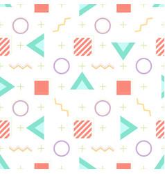 Abstract memphis geometric seamless pattern vector