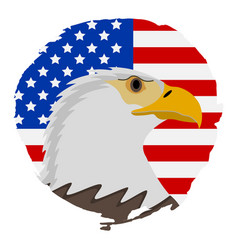 American flag with eagle icon happy 4 th july and vector