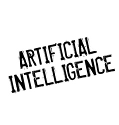 Artificial Intelligence rubber stamp vector