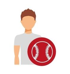 Avatar person athlete icon vector