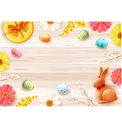 background or frame for easter banner vector image