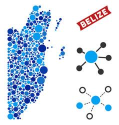 Belize map connections composition vector
