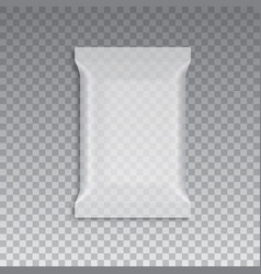 blank of transparent flow packing vector image