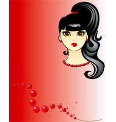 brunette girl vector image