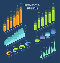 business elements infographic a set of vector image