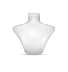 Bust necklace mannequin 3d realistic vector