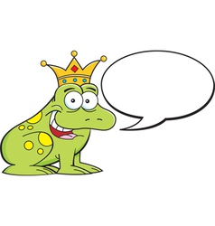 Cartoon frog with caption balloon vector