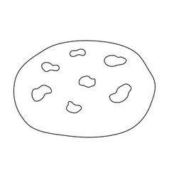 Chocolate chip cookies icon in outline style vector
