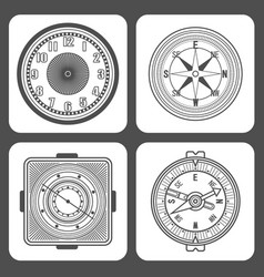 classic design mechanical wristwatch vector image