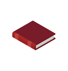 Closed book isolated old volume on white vector