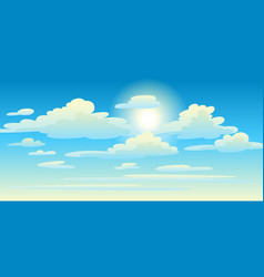 clouds in sky vector image