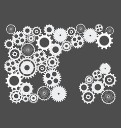cogs and gears abstract background on isolated vector image