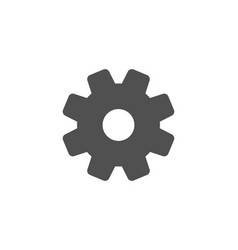 cogwheel simple icon service sign vector image