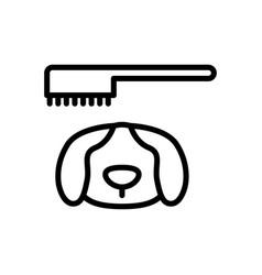 Dog grooming icon vector