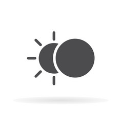 eclipse icon flat design 1 vector image