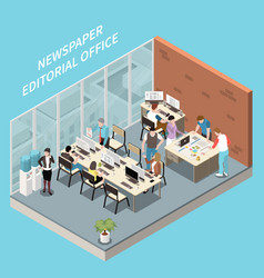 Editorial office vector