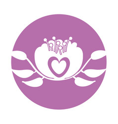 elegant flower decorative icon vector image