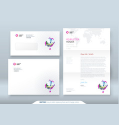Envelope dl c5 letterhead corporate business vector