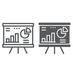 financial analysis line and glyph icon finance vector image