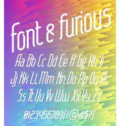 font furious vector image