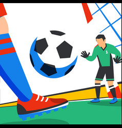 football web banner forward and goalkeeper in the vector image