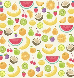 Fruits seamless background vector image