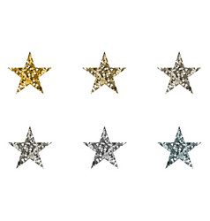 gold and silver stars vector image