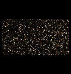 golden polka dot small confetti on black vector image