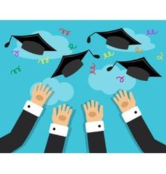 graduates and joy graduation vector image