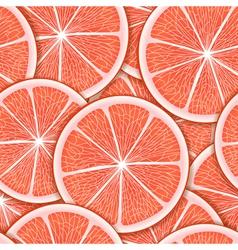 Grapefriut slice seamless background vector image
