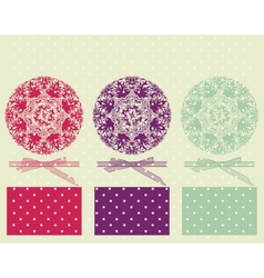 Grunge ornament merry Christmas card vector image