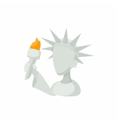 Head of Statue of Liberty icon in cartoon style vector