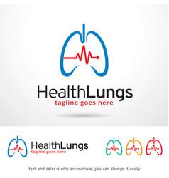 Health lungs logo template vector