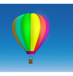 Hot air balloon on the sky background vector image