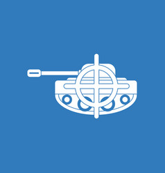 Icon tank at gunpoint vector