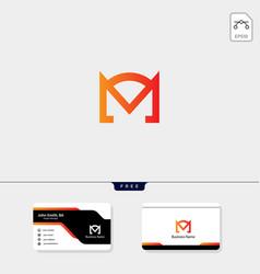 Initial m monogram logo template free your vector
