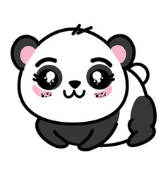Isolated cute panda bear vector
