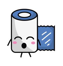 Kawaii cute funny gauze medical tool vector