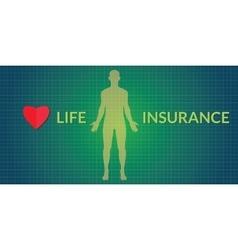 Life insurance human silhouette vector
