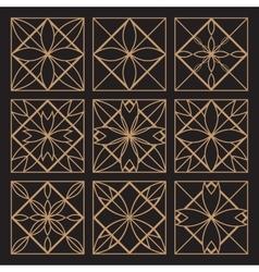 Lineart ornamental geometric symbols vector
