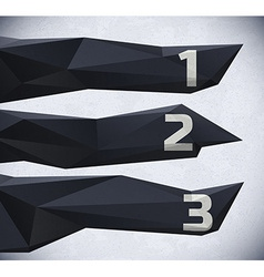 Low poly infographic with numbers vector image