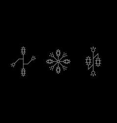 magic geometry white symbol set eye signs vector image