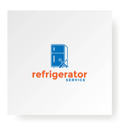 modern fridges refrigerator service warranty logo vector image