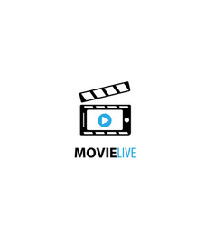 Movie live logo vector