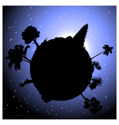 Nature concept planet with plants vector image