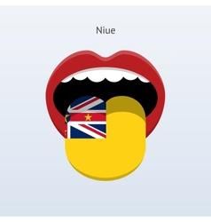 Niue language Abstract human tongue vector image